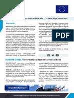 EUROPE DIRECT Informacijski centar Slavonski Brod E-bilten, broj 4, kolovoz 2014.
