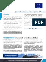 EUROPE DIRECT Informacijski centar Slavonski Brod E-bilten, broj 5, listopad 2014.