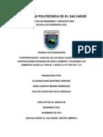 Interpretación y Análisis de Los Resultados Sobre Las Contracciones en Bases de Suelo Cemento