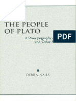 Debra Nails, The People of Plato. Α Prosopography of Plato and Other Socratics