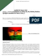 El Ciudadano » Bolivia, Ejemplo Mundial de Buen Vivir
