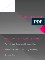 intro to the 4 types of writing