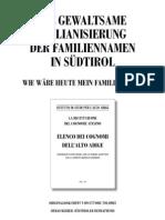 Die gewaltsame Italianisierung der Familiennamen in Südtirol