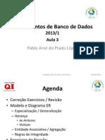 Aula 3 Fundamentos Banco de Dados