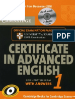 Certificate in Advanced English 1