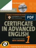 Certificate in Advanced English 1