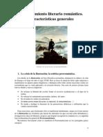 7. El Movimiento Romántico. Características Generales.