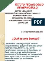 Presentacion de Bombas Equipos Mecanicos.