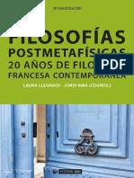 Filosofía postmetafísica. 20 años de filosofía francesa contemporánea.