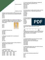 Prova de Matemática - Simulado