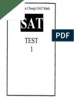 SAT Math Practice Test 01