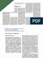 Habermas - Das Falsche Im Eigenen. Briefwechsel Adorno-Benjamin