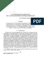 HERMOSA ANDUJAR_ La Concepción Kantiana de Las Relaciones Internacionales