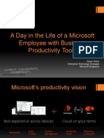 A Day in the Life of a Microsoft Employee With Business Productivity Tools