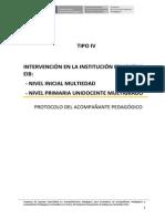 Protocolos Pela 4_ie Tipo IV Unidocente Multigrado_270114