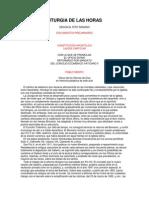 Principios y Normas Generales de La LITURGIA de LAS HORAS