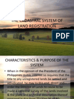 The Cadastral System of Land Registration