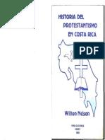 Historia Del Protestantismo en Costa Rica, Wilton Nelson, 1983, IINDEF
