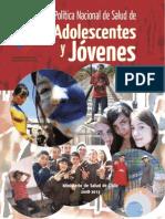 Política Nacional de Salud de Adolescentes y Jóvenes 2008 - 2015 Chile_0