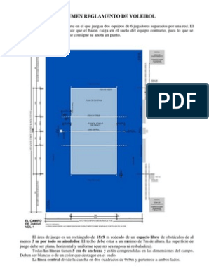 resumen del reglamento del voleibol pdf