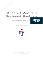 Office v.X Mac OS X Keyboard Shortcuts