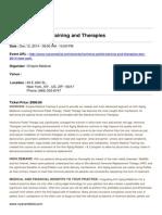 Dec 12,2014 Hormone Pellet Training and Therapies