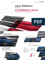 Audi A4, A5, Q5 Sport Edition and A4, A5 Sport Edition Plus (DE)