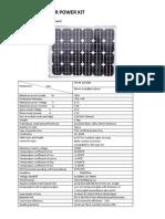 50 Watts Solar Power Kit