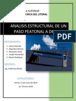 ANALISIS ESTRUCTURAL DE UN PASO PEATONAL A DESNIVEL