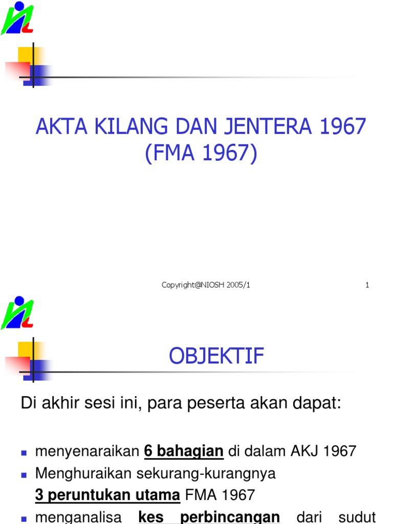13 Akta Kilang Dan Jentera 1967