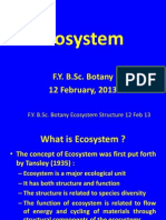 Ecosystem Structure FY Lecture