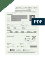 IELTS Dan TOEFL Certificate