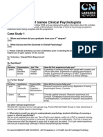 Survey on Trainee Clinical Physchologyst