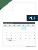 Calendar 2010 Victoria Australia With School Holidays
