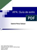 Guía de Estilo APA (Gabriel Perez Salazar)