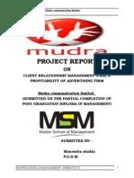 Miniproject Mudra Ad Agency Manendrashukla 120430122118 Phpapp02