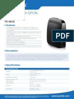 TX-6610 V1 Datasheet
