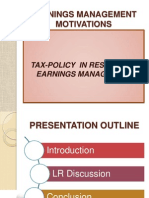 Earnings Management Motivations