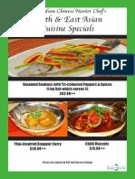 Jade of India's Chef's Specials