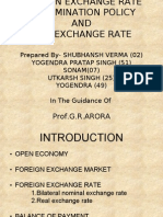 FOREIGN EXCHANGE RATE DETERMINATION POLICY