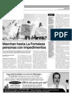 Marchan hasta La Fortaleza personas con impedimentos