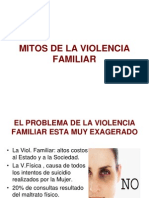 Mitos de La Violencia Familiar