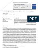 A Review and Analysis of International Accounting Research in JIAAT 2002 2010 2010 Journal of International Accounting, Auditing and Taxation