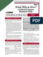 CIP07-Cracks in Concrete Basement Walls