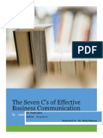 Clarity in 7C's of business communication