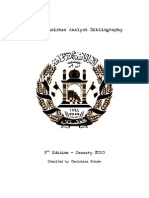 Afghanistan Analyst Bibliography 2010