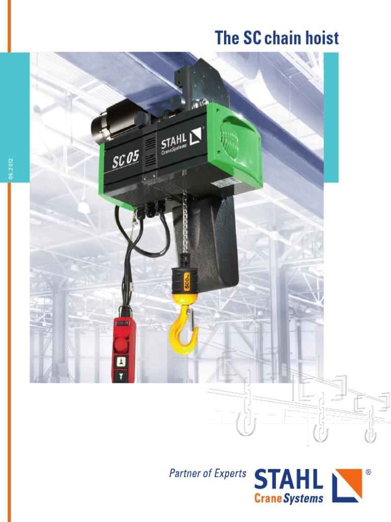 Sc Chain Hoist Crane Machine Clutch Stahl Wiring Diagram
