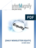 Equity and Stock Market Report for Daily