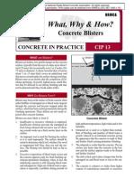 CIP13 Concrete Blisters