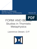 Lawrence Dewan - Form and Being (Studies in Thomistic Metaphysics)